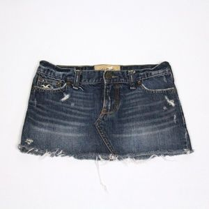 Jean Mini Skirt {Hollister}